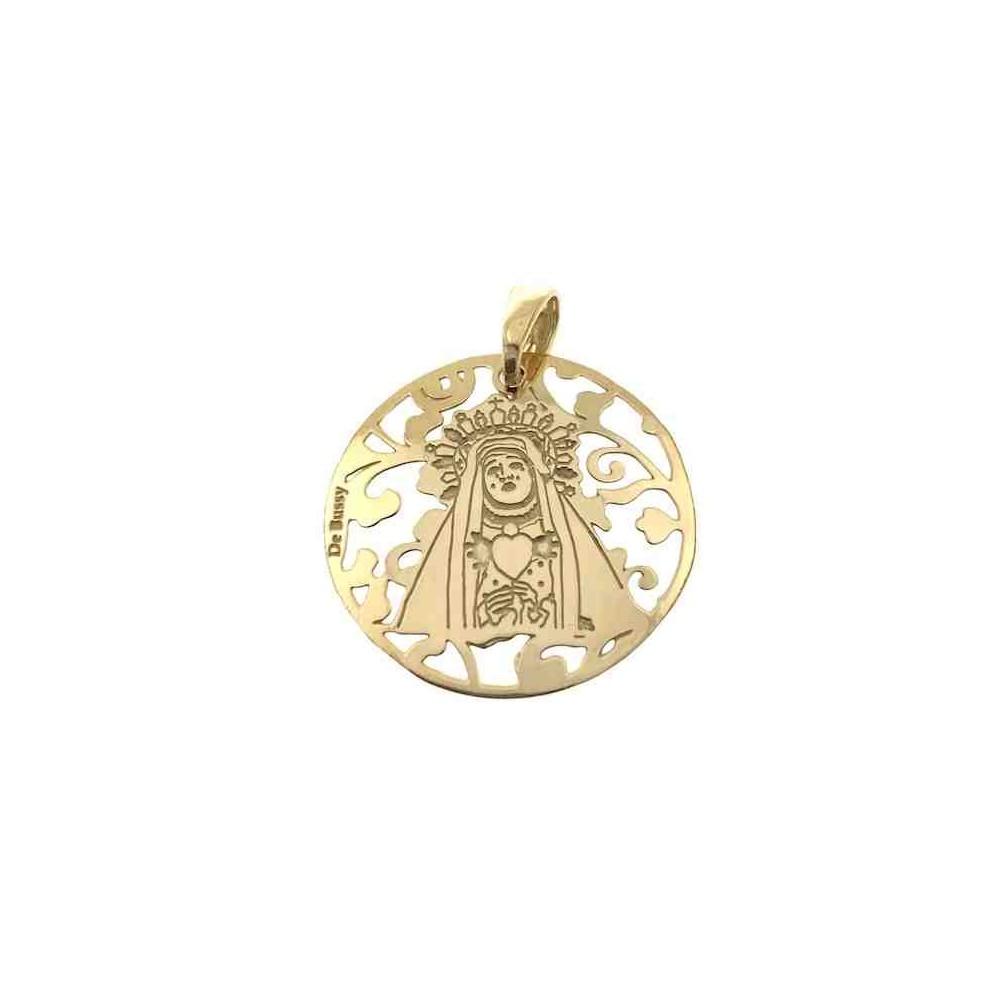Medalla Virgen del Calvario en plata de ley 25mm MCV005D