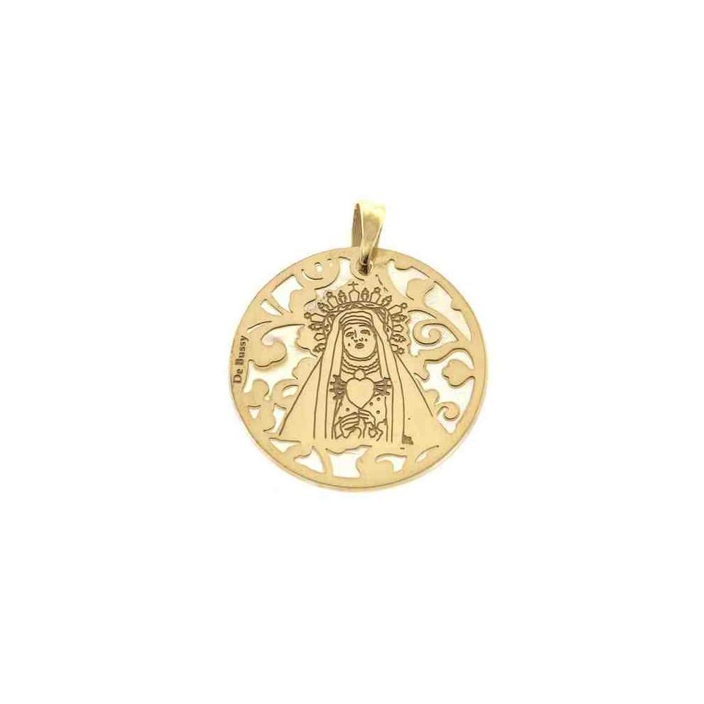 Medalla Virgen del Calvario en plata de ley 25mm MCV005ND
