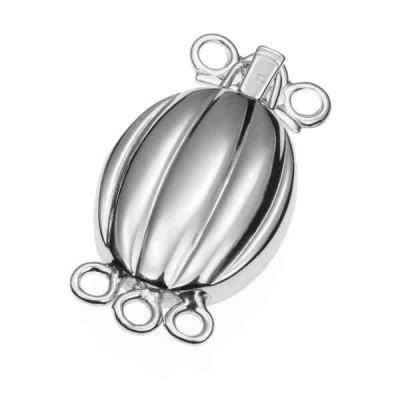 Broche de collar rodiado 3 vueltas.AG-925 75223