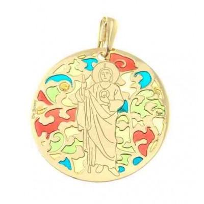 Medalla San Judas Tadeo en plata de ley Chapada 35mm MJT003ED