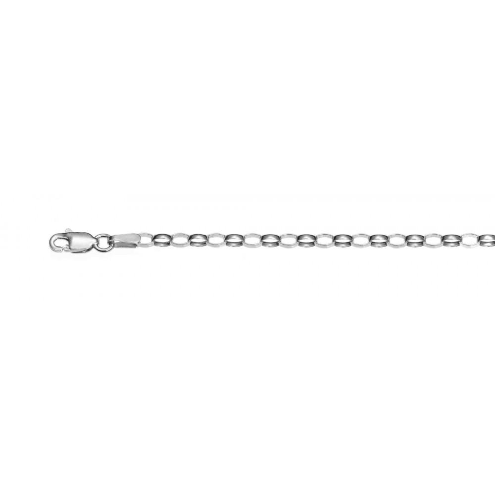 Rolo ovalada 3.0 rodiada.AG-925 96030.50R