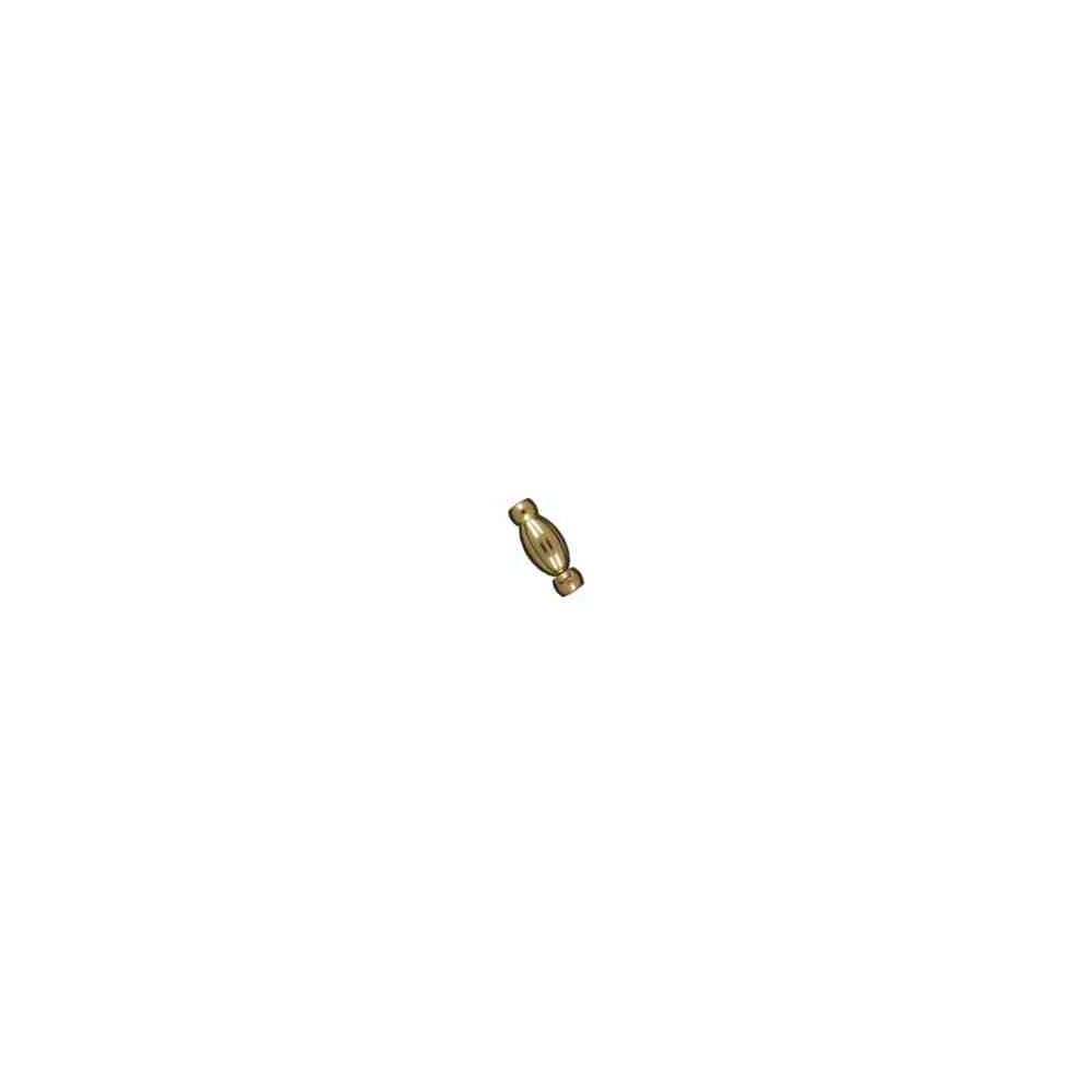 Broche olivina gallonado boquilla y pulsador 25x10 OA.18 Kt 30850 **