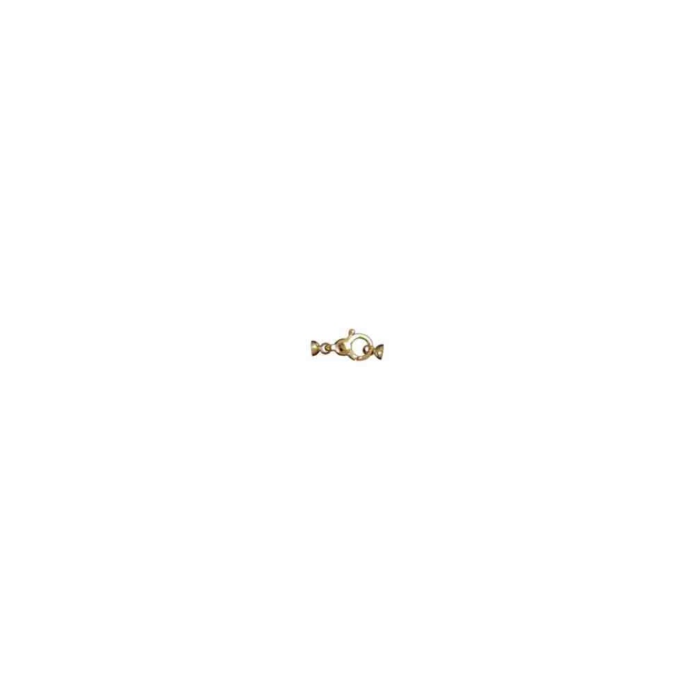 Broche de silueta con casquillas.OA.18 Kt 30857 **