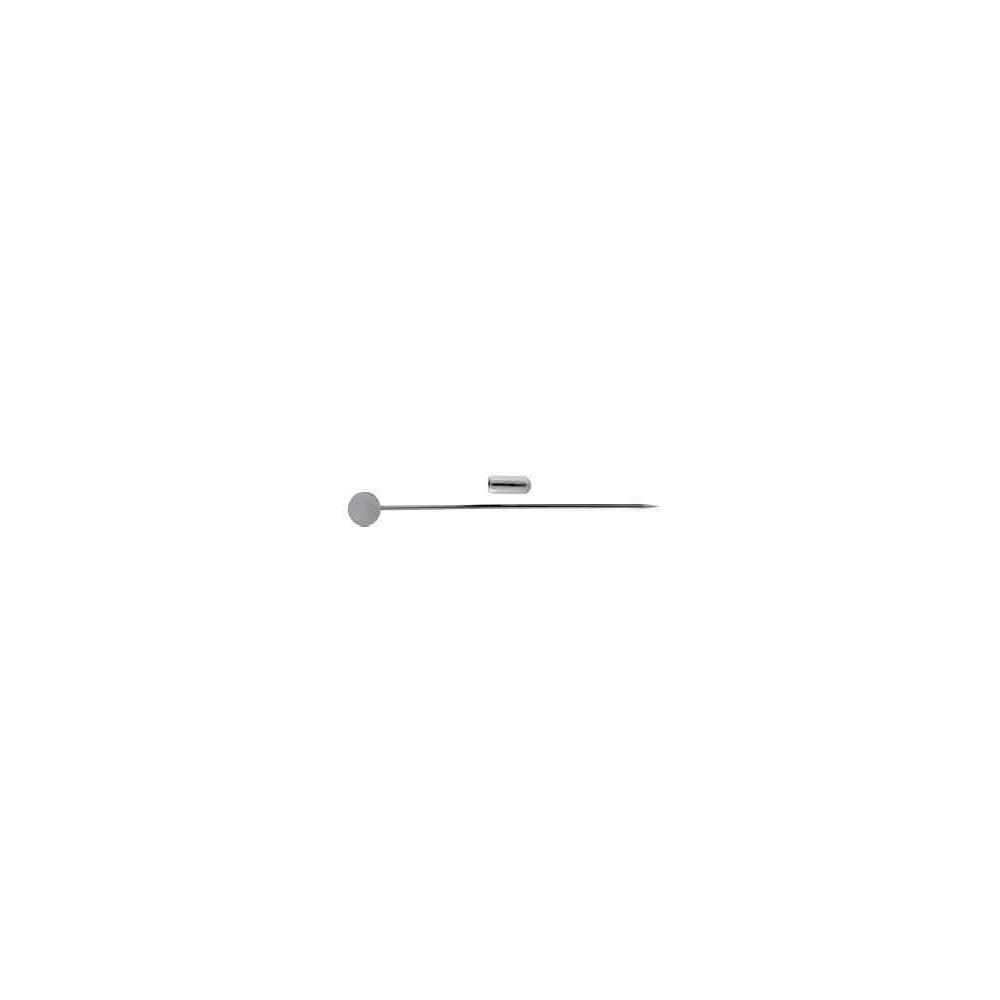 Alfiler con pin c/disco.Long 70mm.Hilo 1mm.AG-925 42423