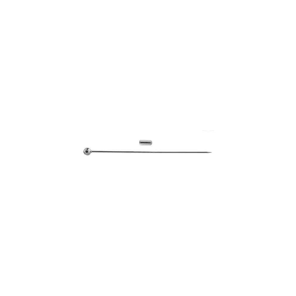 Alfiler con pin c/bola.Long 100mm.Hilo 1mm.AG-925 42425