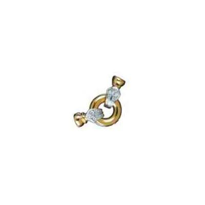Broches plata chapada 1ªley - Con casquillas 70609