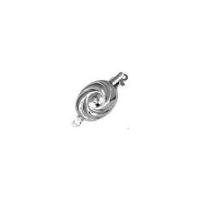 Broche de collar rodiado 1 vuelta.AG-925 75206