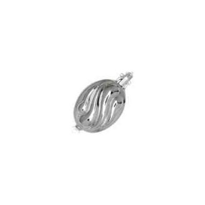 Broche de collar rodiado 1 vuelta.AG-925 75207