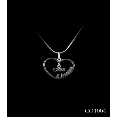 COLGANTE CORAZON 50 SOMBRAS DE GREY G&A CO1004