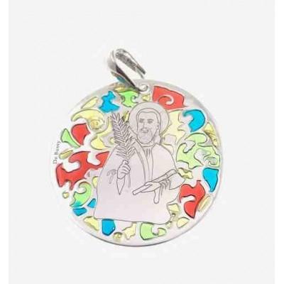 Medalla San Judas Tadeo en plata de ley 35mm MJTM003EP