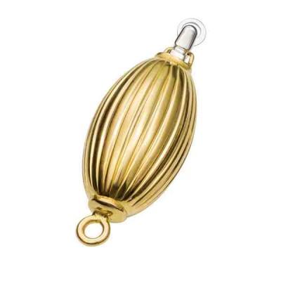 Broche de olivina-27 x 10 mm.-OA.18 Kt 30124 **