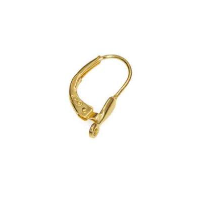 Ballestilla de muelle c/lágrima.Gold filled 14/20 52551