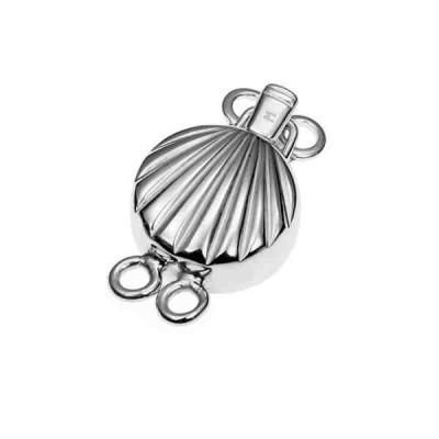 Broche de collar rodiado 2 vueltas.AG-925 75222