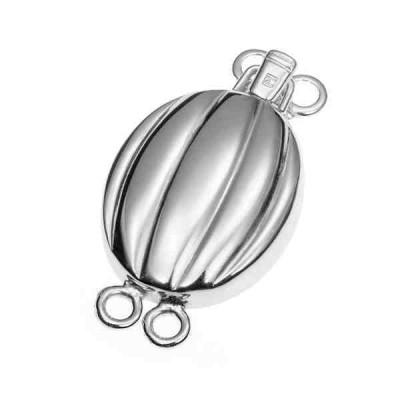 Broche de collar rodiado 2 vueltas.AG-925 75224