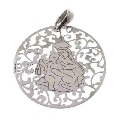 Medalla Virgen del Carmen plata de Ley 40mm MCM008P