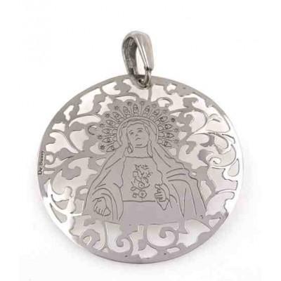 Medalla Virgen de Amargura plata 40mm MAG008P