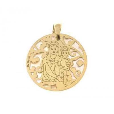 Medalla Madre del Amor Hermoso en Plata de Ley 25mm MAH005ND