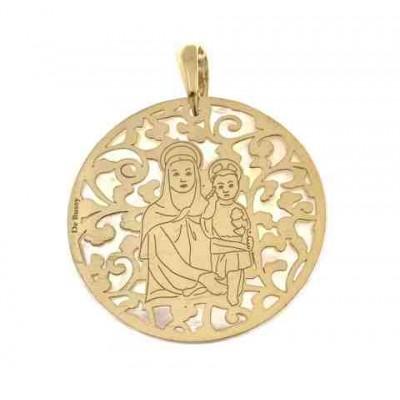 Medalla Madre del Amor Hermoso en Plata de Ley 35mm MAH003ND