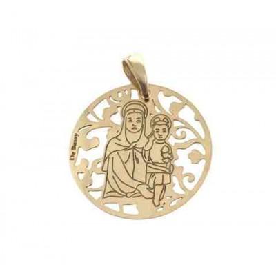 Medalla Madre del Amor Hermoso en Plata de Ley 25mm MAH005D
