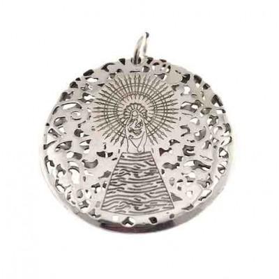 Medalla Virgen Pilar en Plata de Ley  30mm MP303DP