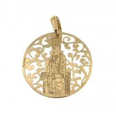 Virgen de Torreciudad en plata chapada en oro 35mm MTC003D