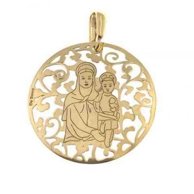 Medalla Madre del Amor Hermoso en Plata de Ley 35mm MAH003D