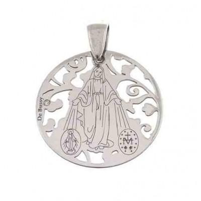 Medalla V. Milagrosa plata de ley y diamante 20 mm MMI005PBT