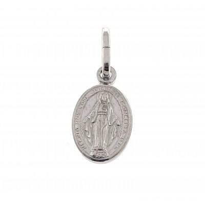 Medalla Virgen de la Milagrosa Plata de Ley 14 mm DBMM14