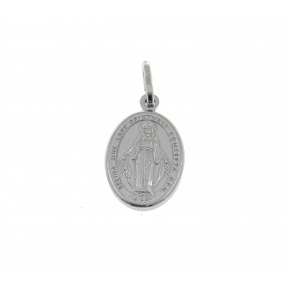 Medalla Virgen de la Milagrosa Plata de Ley 18 mm DBMM18