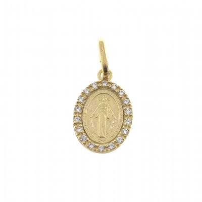 Medalla Virgen de la Milagrosa en Plata Chapada DBMMZD