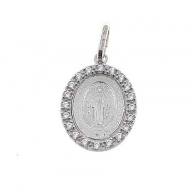 Medalla Virgen de la Milagrosa en Plata de Ley JCC37
