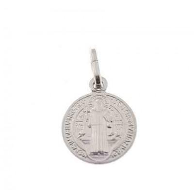 Medalla San Benito en plata de ley 12 mm DBSB1.2