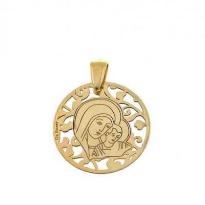 Medalla Virgen del Camino en plata de ley Chapado 25mm MC005D