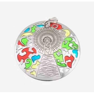 Medalla Virgen del Pilar plata de ley 40mm MP008EP