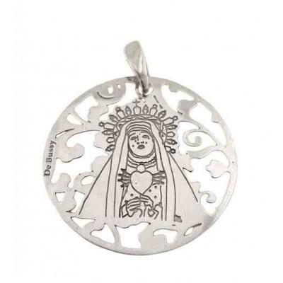 Medalla Virgen del Calvario en plata de ley 25mm MCV005P