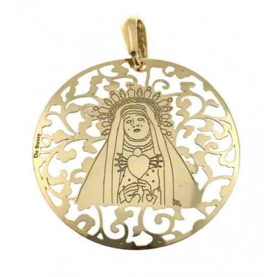 Medalla Virgen del Calvario en plata de ley 40mm MCV008D