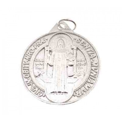 Medalla San Benito en plata de ley 30 mm DBSB3.0