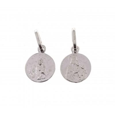 Medalla escapulario en plata de ley 10mm ME8