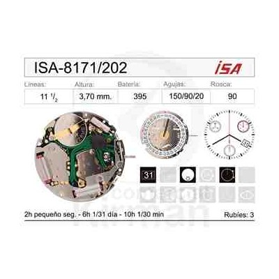 MOVIMIENTO ISA 8171/202 CAL.4H