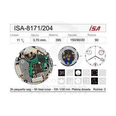 MOVIMIENTO ISA 8171/204 CAL.4H
