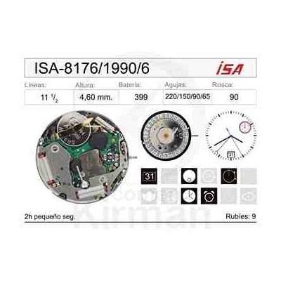 MOVIMIENTO ISA 8176/1990 CAL.6H