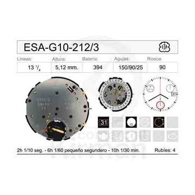 MOVIMIENTO ESA G10-212 CAL.3H