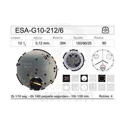 MOVIMIENTO ESA G10-212 CAL.6H