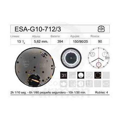 MOVIMIENTO ESA G10-712 CAL.3H