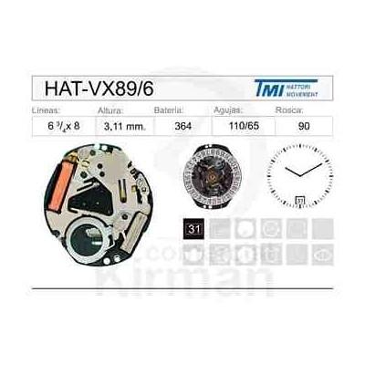 MOVIMIENTO HATTORY VX89 CAL.6H