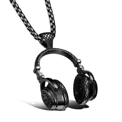 colgante Acero auricular negro CLGB0616110002