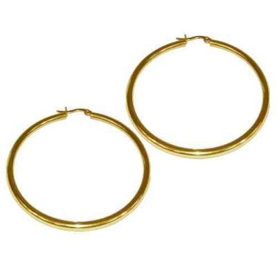 PENDIENTE 2 mm 316 L, IP GOLD, 60 mm E10002/GOL.60