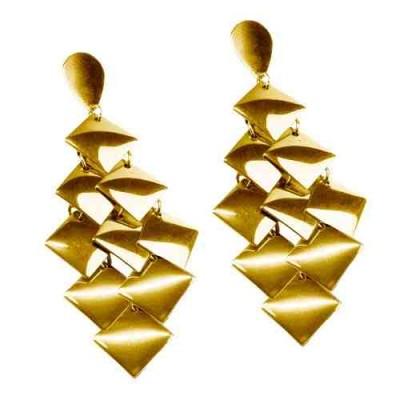 PENDIENTES CASCADA, IP GOLD E14102/GOL.00