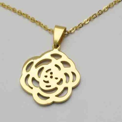 COLLAR SS 316 L, IP GOLD FLOR N11957/GOL.00