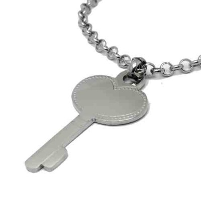 COLLAR SS 316 L, LLAVE CORAZON 50 mm N14967/SSO.02
